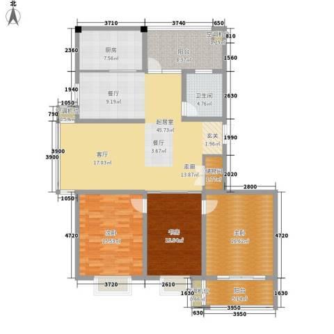 沪太雅苑3室0厅1卫1厨137.00㎡户型图