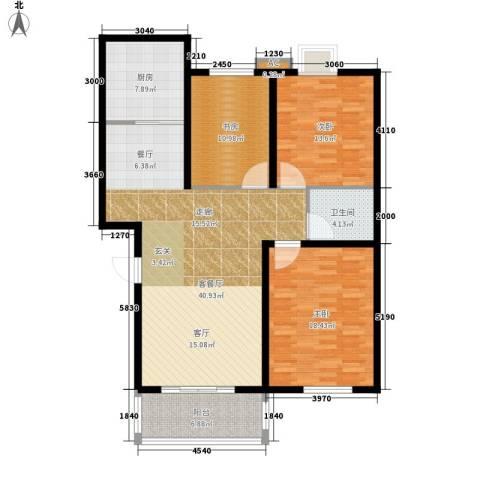 西航花园3室1厅1卫1厨115.00㎡户型图