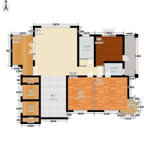 凯润花园3室1厅2卫0厨170.00㎡户型图