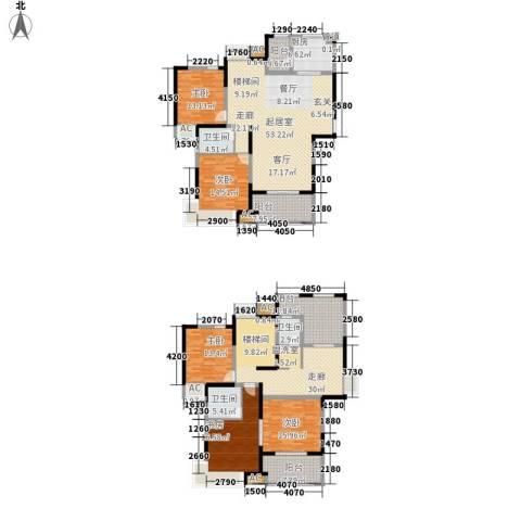 新里魏玛公馆5室0厅3卫1厨285.00㎡户型图