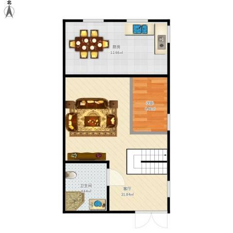 住友家园别墅1室1厅1卫1厨59.00㎡户型图