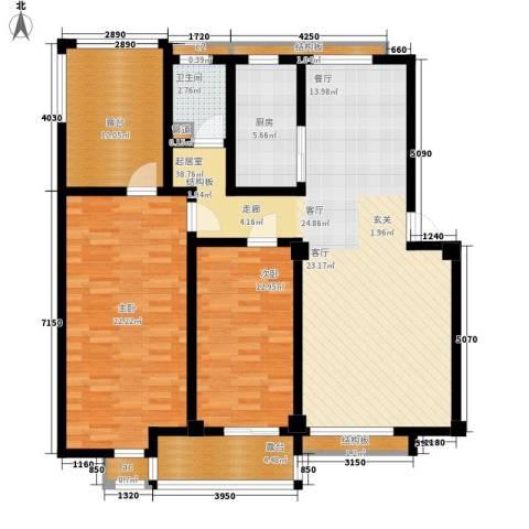科达华苑乐家2室0厅1卫1厨146.00㎡户型图