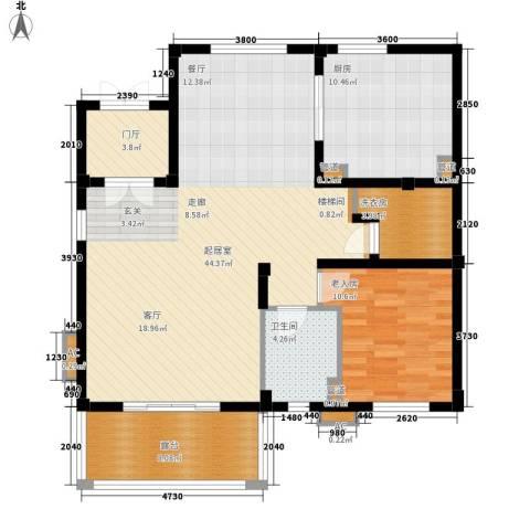 洛阳碧桂园1室0厅1卫1厨123.00㎡户型图