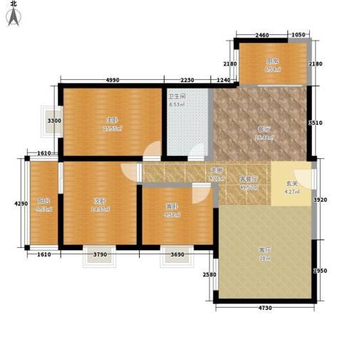 西瑞北国之春3室1厅1卫1厨122.00㎡户型图