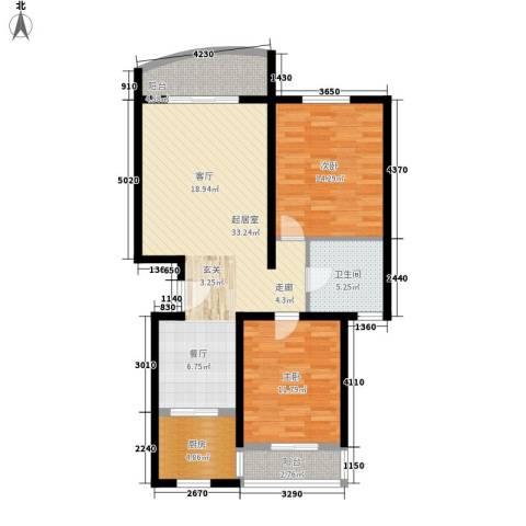航天新都2室0厅1卫1厨110.00㎡户型图