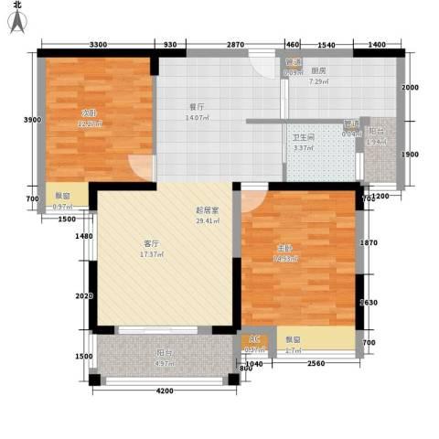 咸宁中央城2室0厅1卫1厨104.00㎡户型图