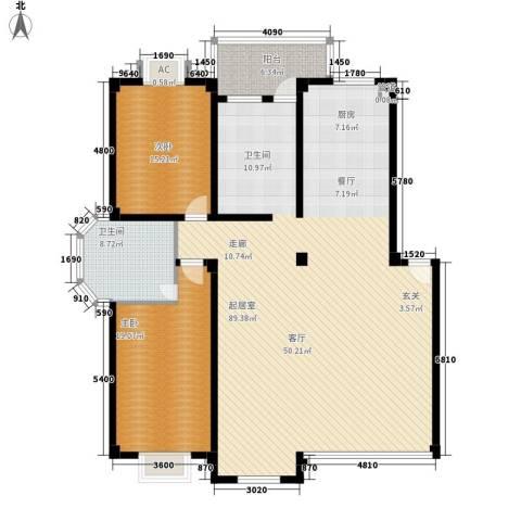 西湖景园2室0厅1卫0厨165.00㎡户型图