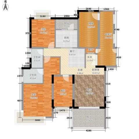 大信海岸家园3室0厅2卫1厨143.00㎡户型图