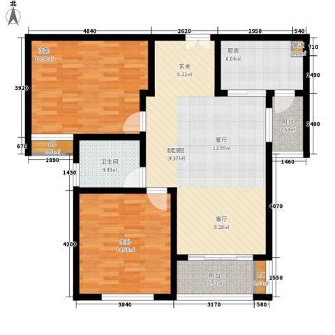 御品世家2室0厅1卫1厨93.00㎡户型图