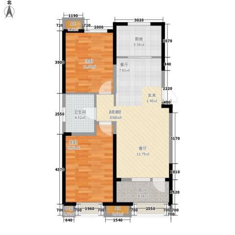 金侨大道2室0厅1卫1厨94.00㎡户型图