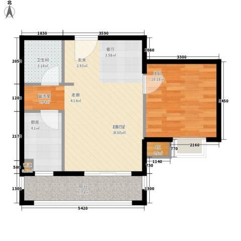 半岛康桥1室0厅1卫1厨65.00㎡户型图