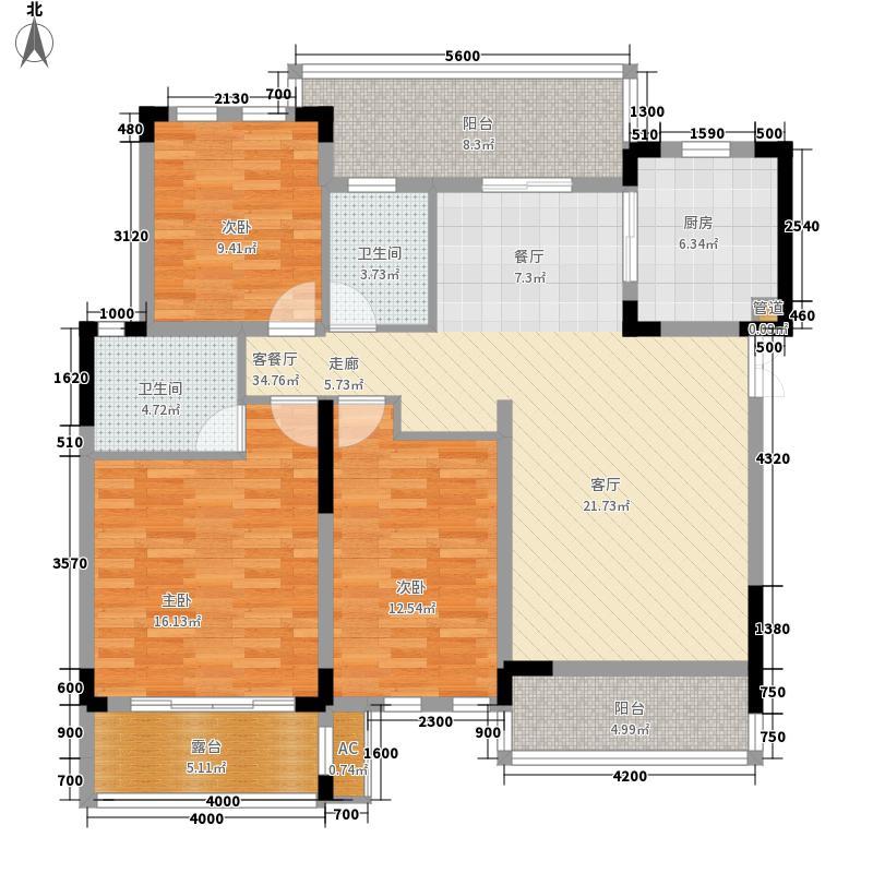 半山七号105.98㎡二期洋房15号楼3层C3户型