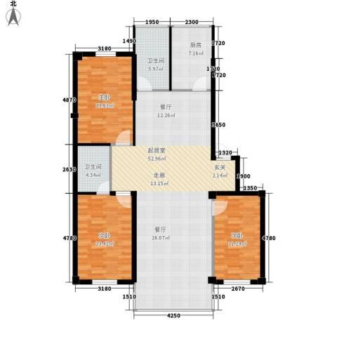 扬州城3室0厅2卫1厨149.00㎡户型图