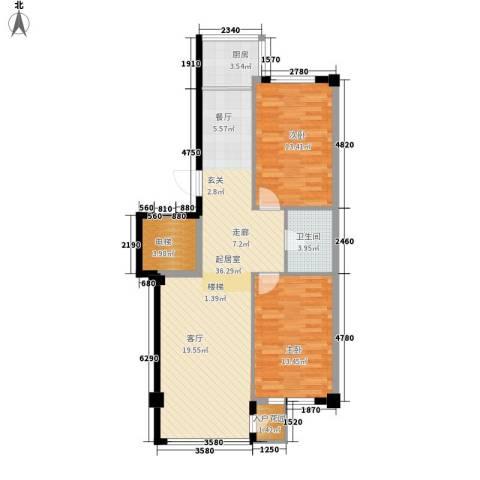 扬州城2室0厅1卫1厨107.00㎡户型图
