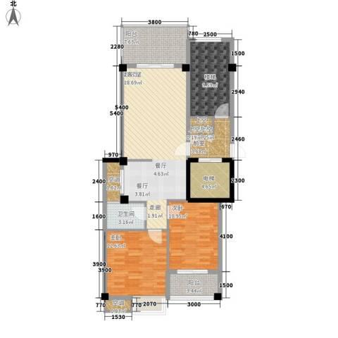 凯悦华庭2室0厅1卫0厨87.63㎡户型图