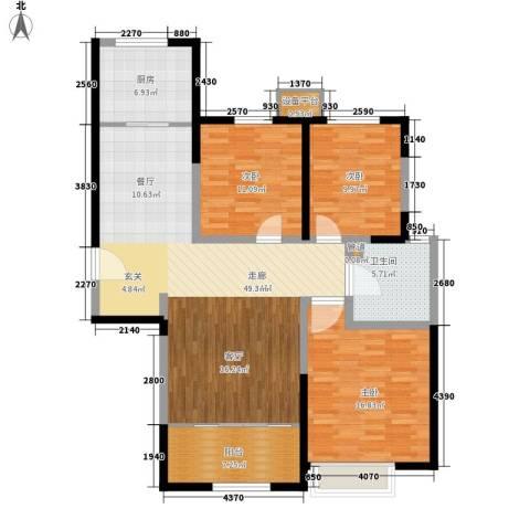 荷堂3室0厅1卫1厨141.00㎡户型图