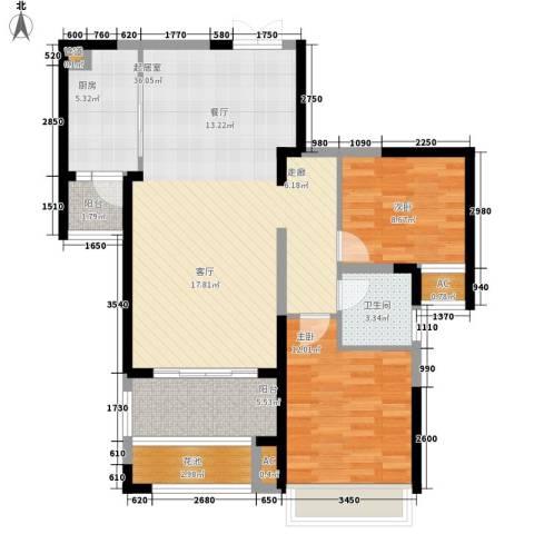 新华联广场2室0厅1卫1厨112.00㎡户型图