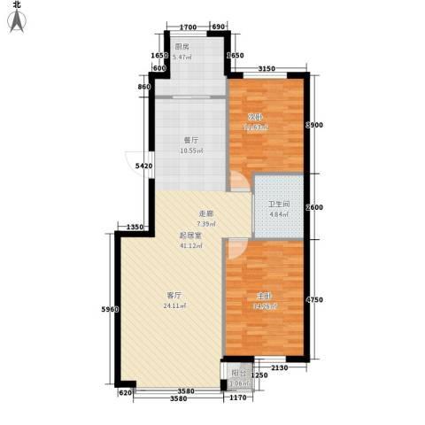九江丽都2室0厅1卫1厨108.00㎡户型图