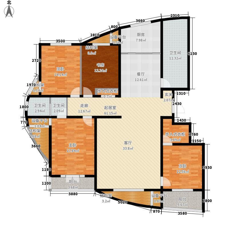 丽景蓝湾203.91㎡B区高层B4面积20391m户型