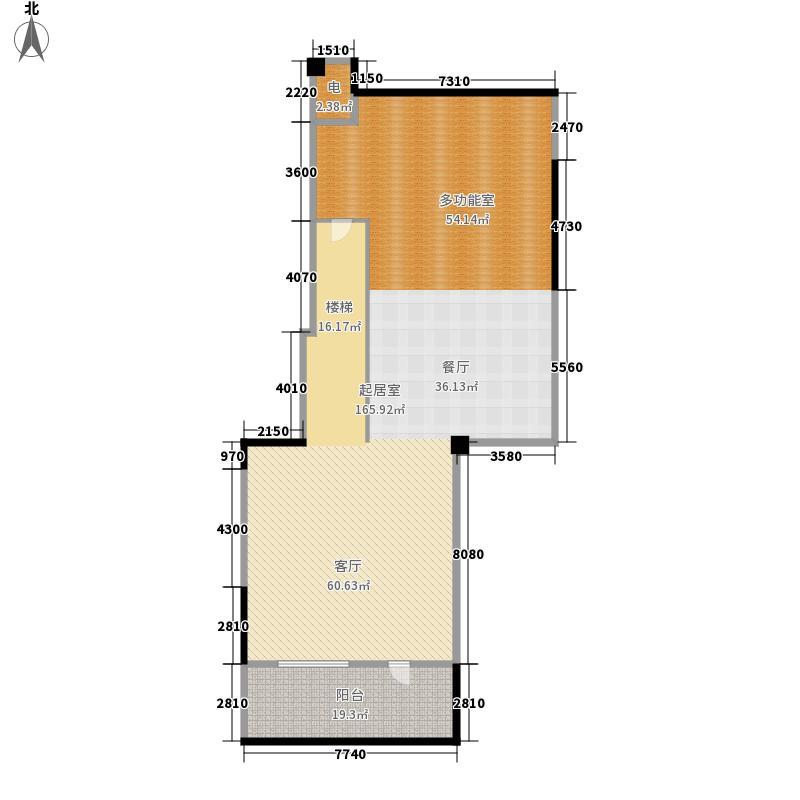 景山玫瑰园202.00㎡二期花园洋房6#L-C地下一层户型