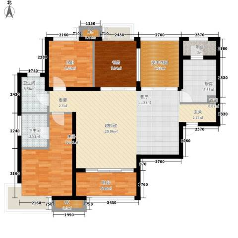 新华联广场3室0厅2卫1厨125.00㎡户型图