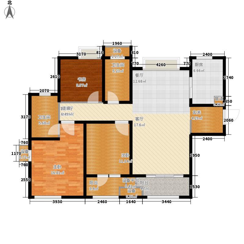 九龙仓时代上城120.00㎡G4户型3室2厅