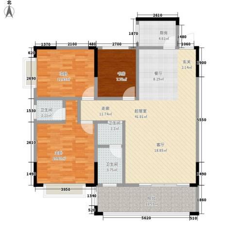 德雅园3室0厅3卫1厨139.00㎡户型图