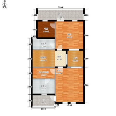 外滩梅园3室0厅2卫0厨145.00㎡户型图