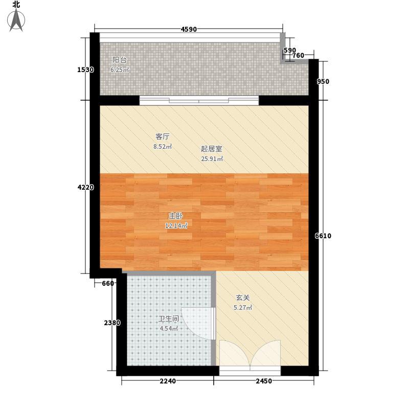 财富中心42.00㎡公寓户型