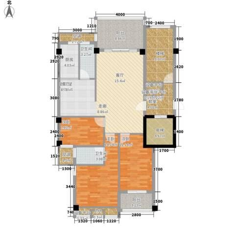 凯悦华庭3室0厅2卫1厨112.14㎡户型图