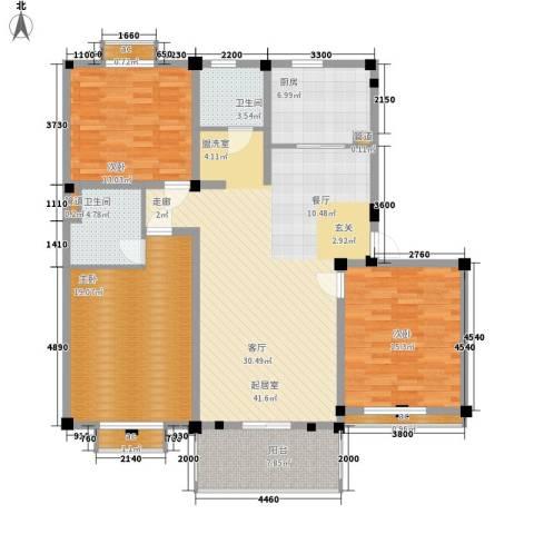 欧洲城3室0厅2卫1厨164.00㎡户型图