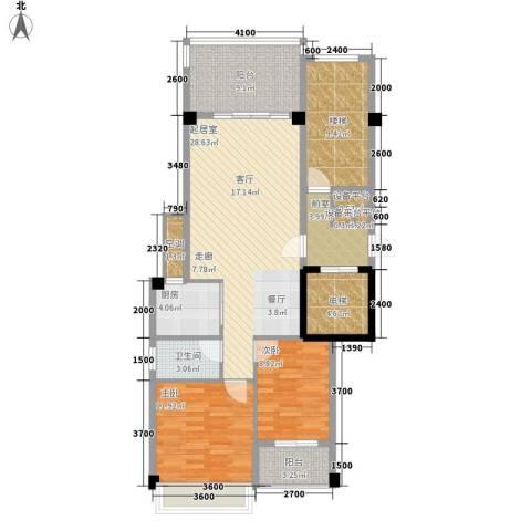 凯悦华庭2室0厅1卫1厨89.27㎡户型图