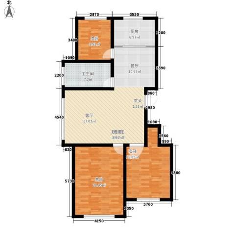 馨安苑3室0厅1卫1厨111.00㎡户型图