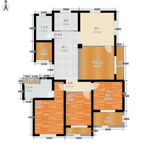 外滩梅园3室0厅2卫1厨173.00㎡户型图