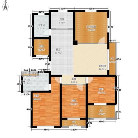 外滩梅园3室0厅2卫1厨127.00㎡户型图