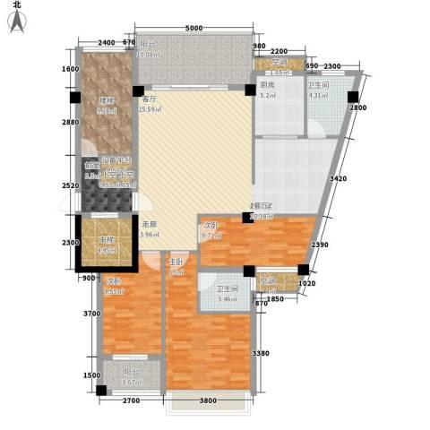 凯悦华庭3室0厅2卫1厨122.00㎡户型图