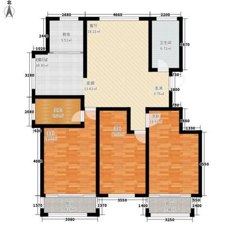馨安苑3室0厅1卫1厨143.00㎡户型图