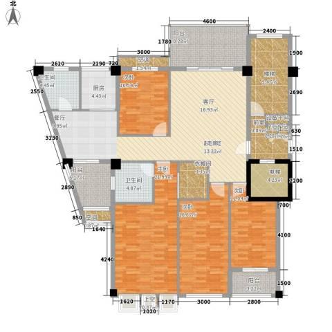 凯悦华庭4室0厅2卫1厨161.00㎡户型图
