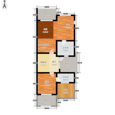 三利宅院福邸2室1厅2卫0厨355.00㎡户型图