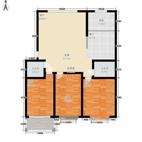 山海顺沁苑3室0厅2卫1厨140.00㎡户型图