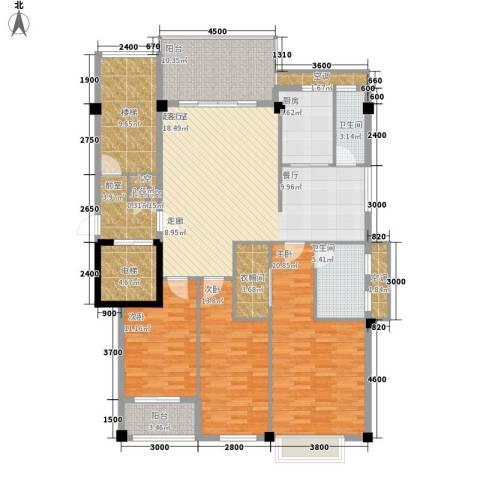 凯悦华庭3室0厅2卫1厨136.85㎡户型图