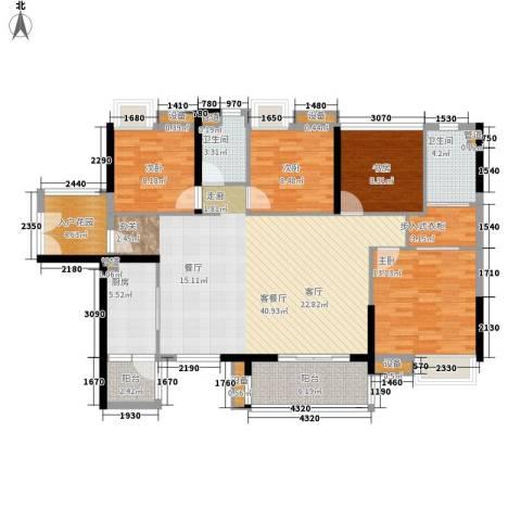 湘域中央花园4室1厅2卫1厨138.00㎡户型图