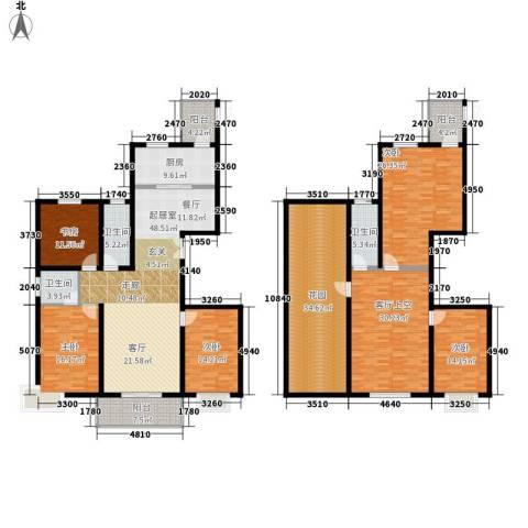 香格里拉5室0厅3卫1厨264.00㎡户型图