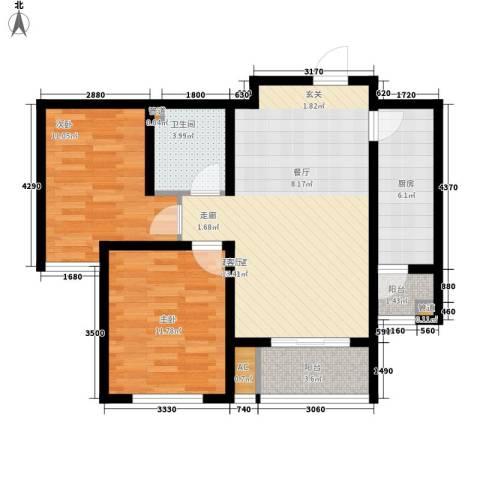 城建福源花园2室0厅1卫1厨90.00㎡户型图