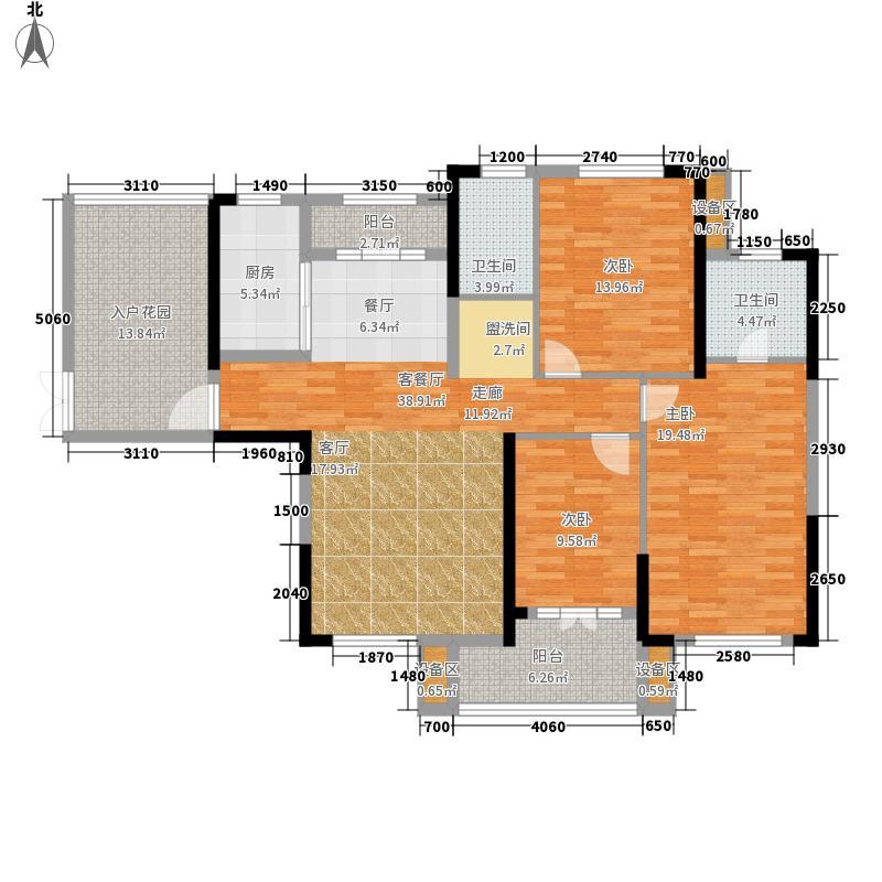 复地东湖国际128.33㎡M5-1户型3室2厅