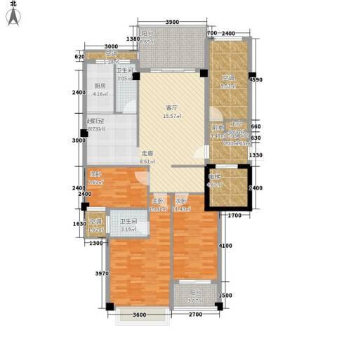 凯悦华庭3室0厅2卫1厨110.94㎡户型图