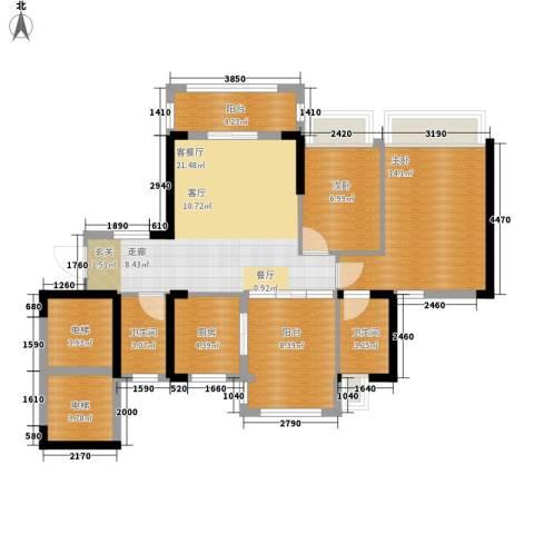 美林假日2室1厅2卫1厨85.76㎡户型图