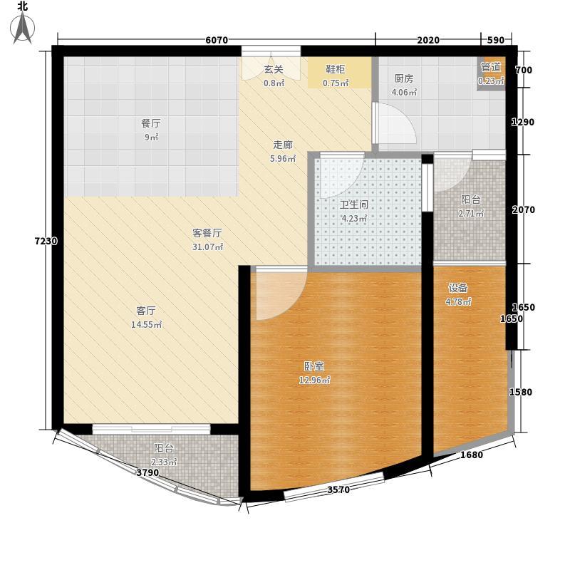 芳草轩65.15㎡D3精雅小舍面积6515m户型