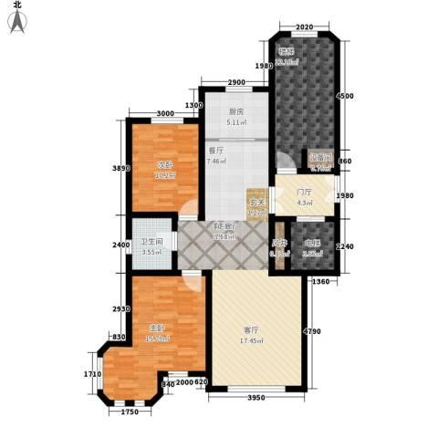 世福佳苑・碧春园2室1厅1卫1厨131.00㎡户型图