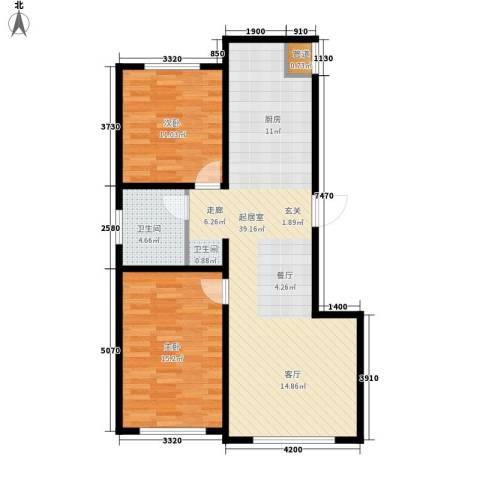 蒙东绒毛商贸城2室0厅1卫0厨98.00㎡户型图